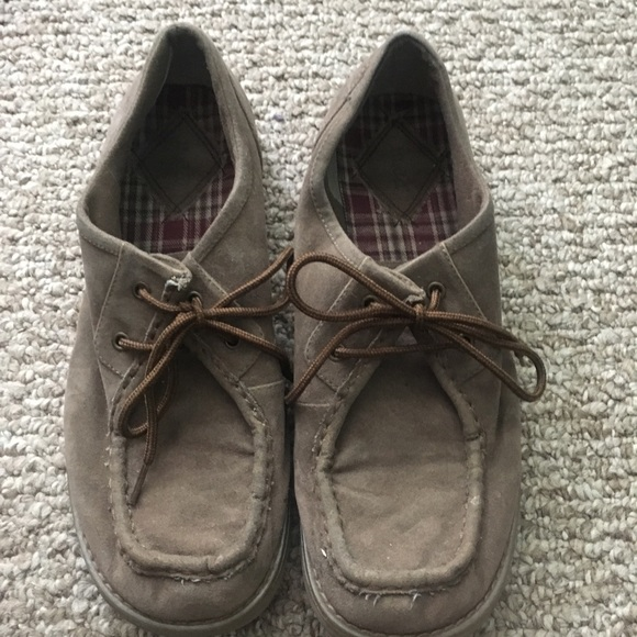 moderate cost best authentic special discount of Mudd Brown Shoes - Similar to Clarks Wallabee